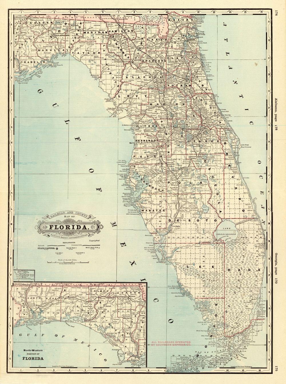 Plant City Florida Map.Florida Memory County Map Of Florida 1885 History Of Plant City