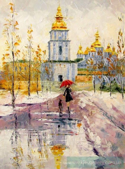 Картина «Поздняя осень в Киеве», Художник Колос Анна