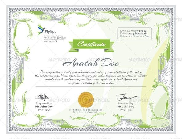 Best Certificate  Diploma Templates  Psd Eps Ai Download