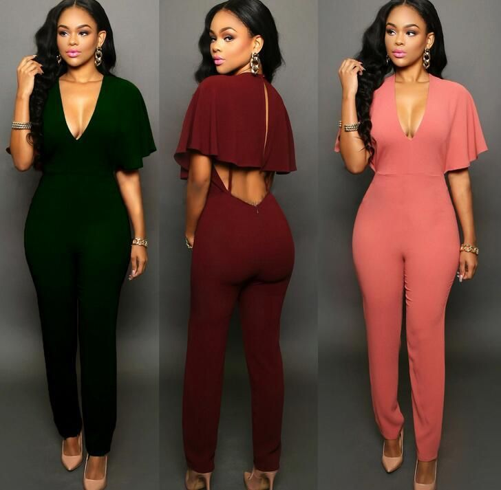 d3a5a683c9c8 Sexy Style Women And Big Girls Backless Pant Sexy Clothes Fashion Sexy  Rompers Siamese Trousers Woman Trousers Short Sleeve Jumpsuit From  Bala bala