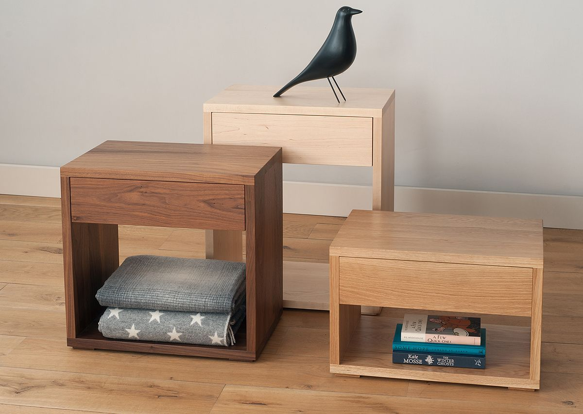 A Modern Bedside Drawer Table Made In The Uk This Stylish Solid Wood Has Useful Storage Free Delivery Online