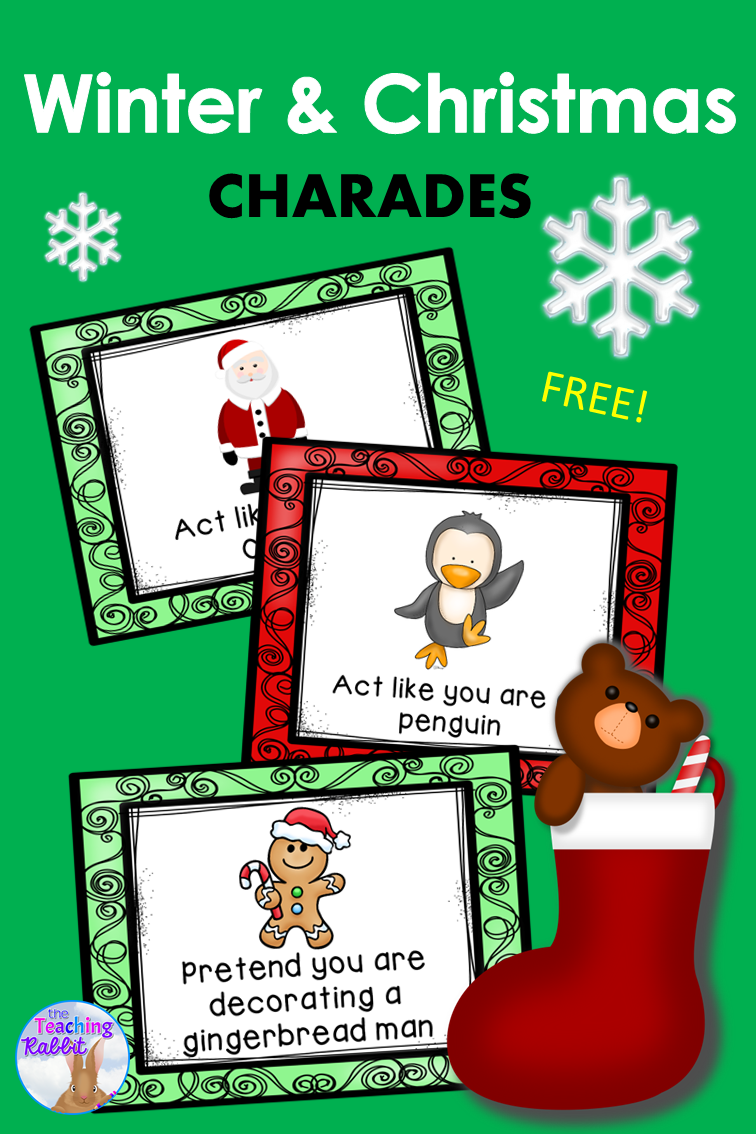 The Special Education Charade >> Christmas Winter Charades My Special Class Room Kindergarten