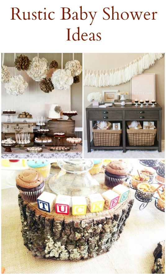 20 Rustic Baby Shower Ideas Baby Boy Shower Baby Shower Vintage Baby Shower Decorations