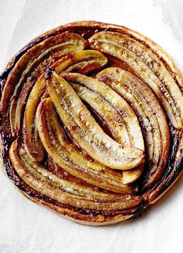 Tarte aux bananes caramélisées au caramel de confiture de lait - Toffee-banana tart