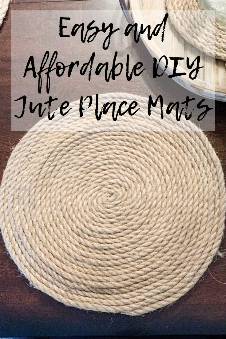 Easy And Affordable Diy Round Jute Place Mats In 2020 Diy Placemats Farmhouse Placemats Easy Placemats