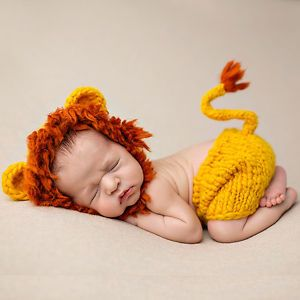 295031b29 Lion Crochet Knit Newborn Baby Girls Boys Costume Photo Photography ...