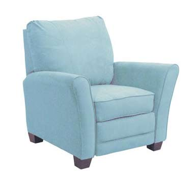 Retro Blue Accent Chair For The Home Recliner Blue