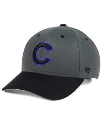 buy popular 30a52 9b36a  47 Brand Chicago Cubs 2Tone Charcoal Black Pop Mvp Cap - Black Adjustable
