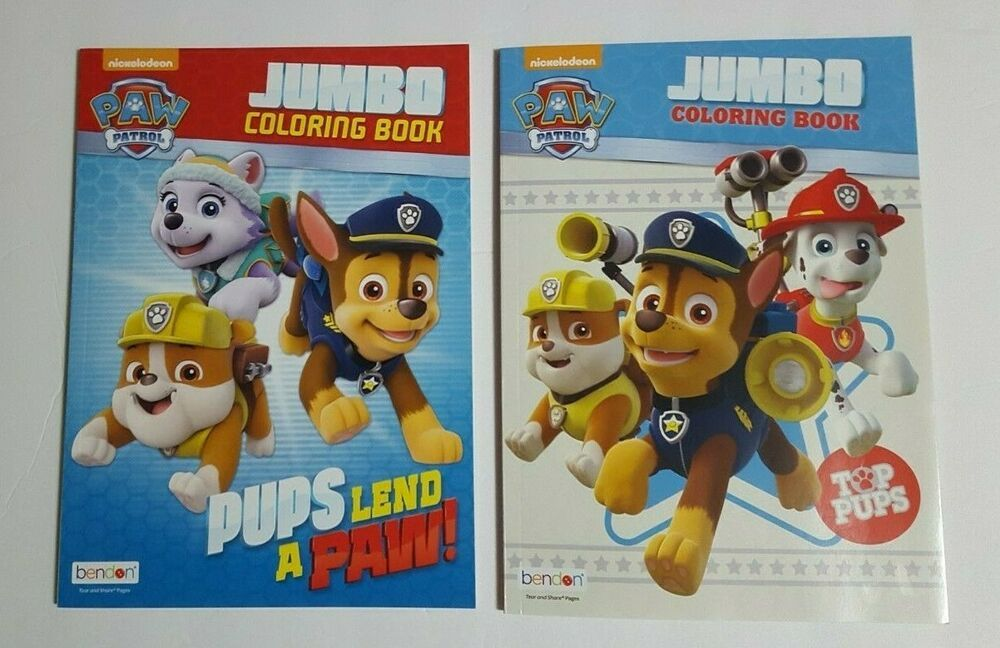 Paw Patrol Jumbo Coloring And Activity Books Top Pups