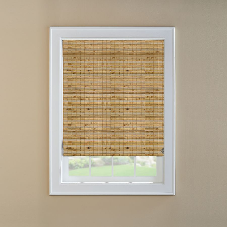 Levolor Natural Bamboo Light Filtering Roman Shade Actual 47 5 In X 60 In Lowes Com Bamboo Light Woven Wood Shades Woven Wood Roman Shades