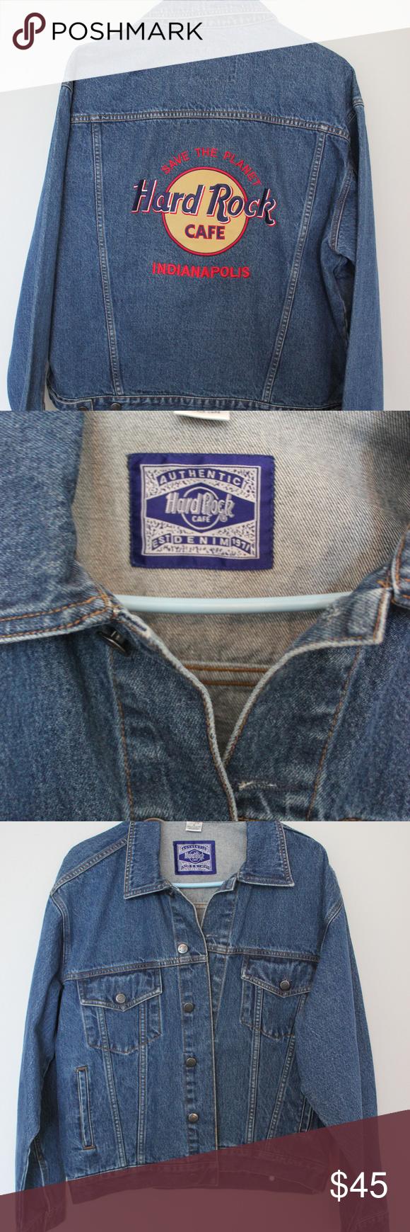 Vintage Hard Rock Cafe Denim Jacket Vintage Denim Jacket Denim Jacket Vintage Jean Jacket [ 1740 x 580 Pixel ]