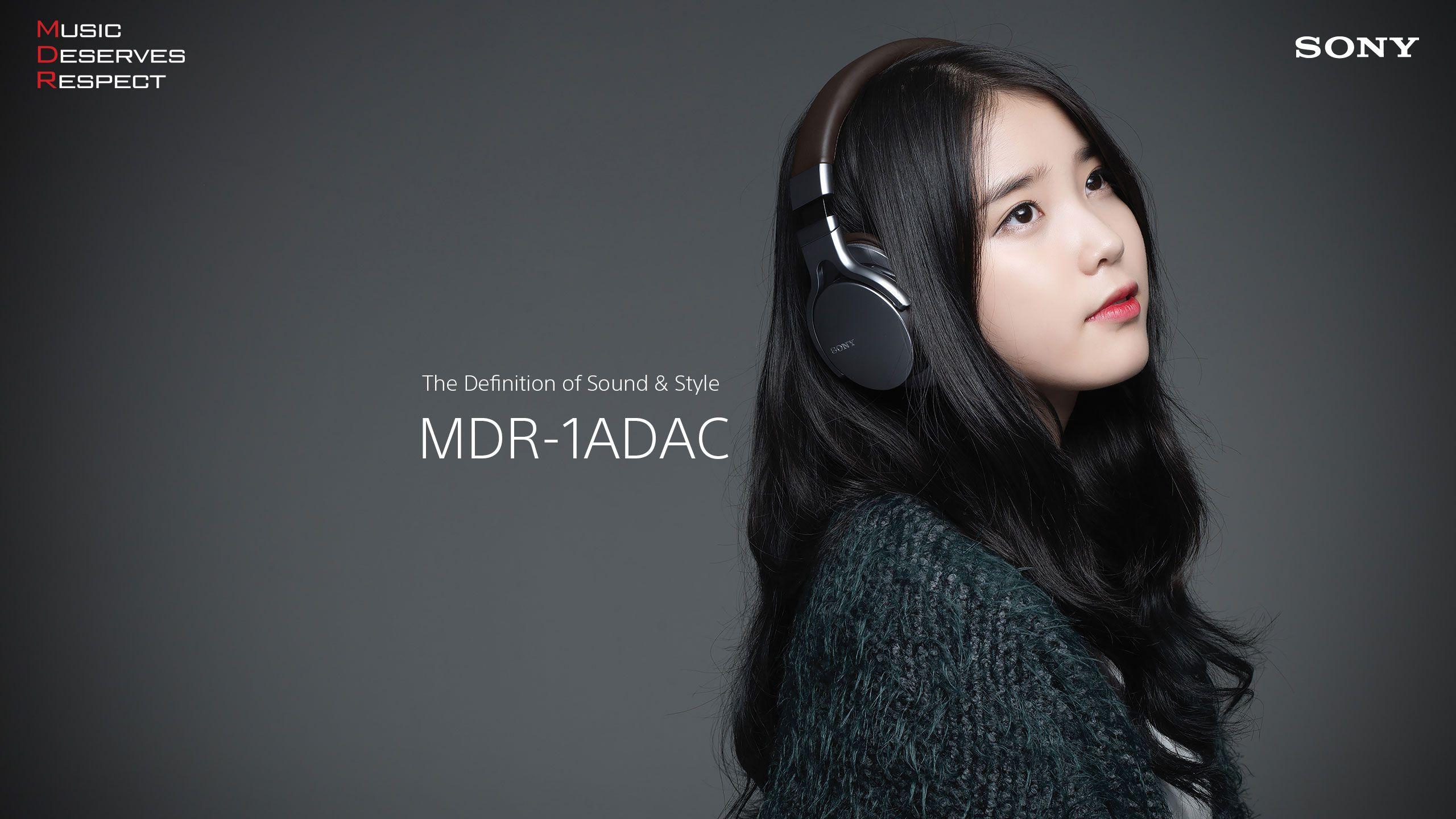 Kpop singer IU Sony headphone wallpaper