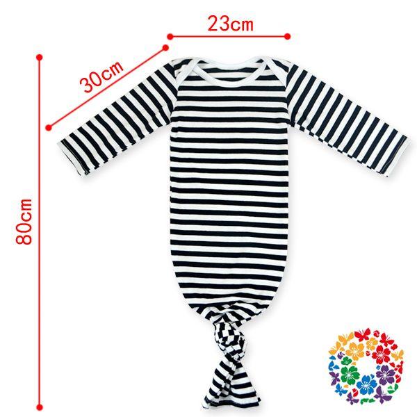 afa4e05791536 Newest Cute Newborn Baby Sleep Sack Nightgown Striped Knotted ...