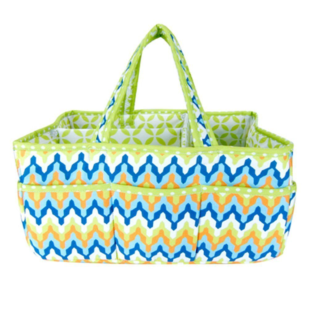 Amazon.com : Trend Lab Outdoor Picnic Travel Pets Portable Carry All Craft Scrapbooking Utility Organizer Levi Diaper Storage Caddy Tote : Nursery Storage Containers : Baby