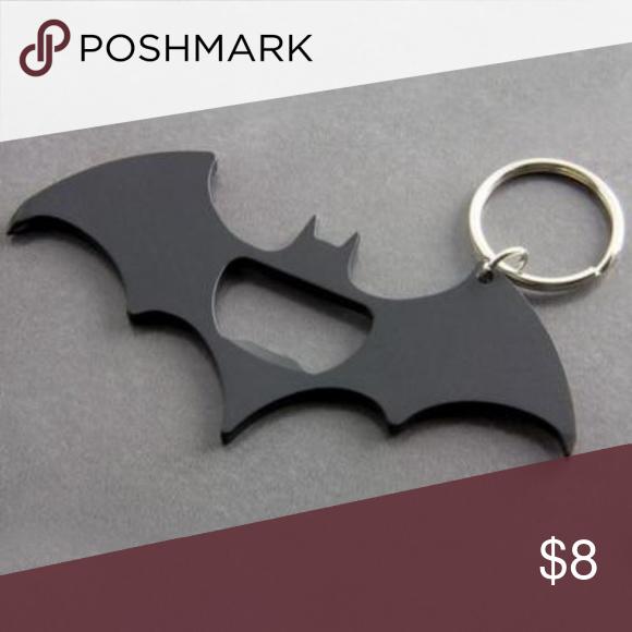 Black Bat shaped bottle opener