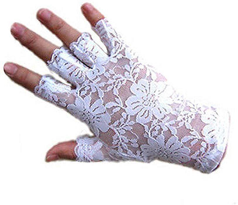 Dreamhigh women wrist length lace half finger