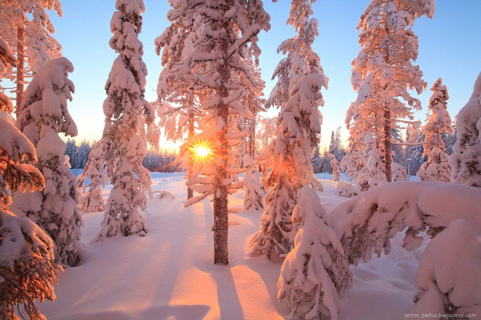 красивая зима россии фото хаски пике