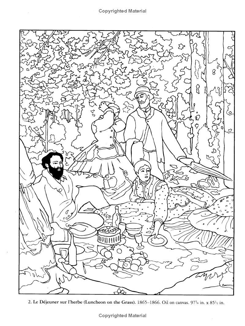 Color Your Own Monet Paintings (Dover Art Coloring Book): Claude ...