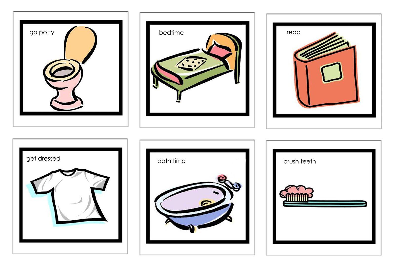 diy visual schedule for kids link to more clipart homeschool rh pinterest com chore chart clip art for kids children's chore chart clipart