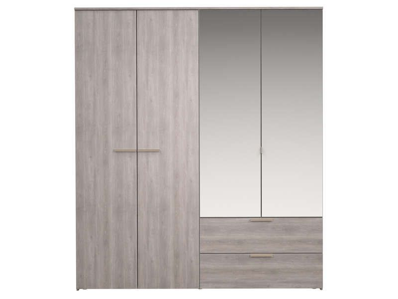 armoire 4 portes battantes tempo 2 conforama armoire. Black Bedroom Furniture Sets. Home Design Ideas