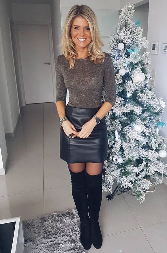 boots Amateur leather skirt