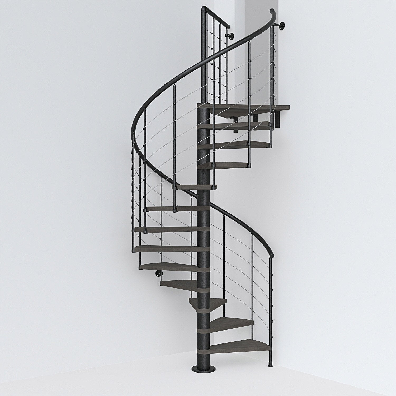 Escalier Colimacon Rond Revers Acier Noir Ring Tube 12 Mar Orme