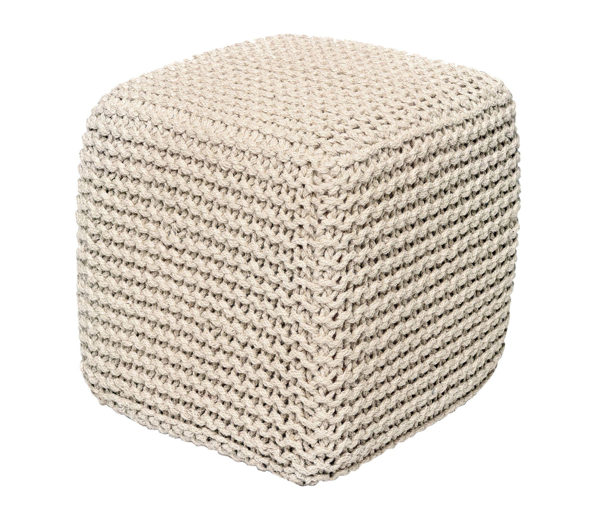 Laflin Corded Jute Cube Pouf Ottoman | Products | Pinterest