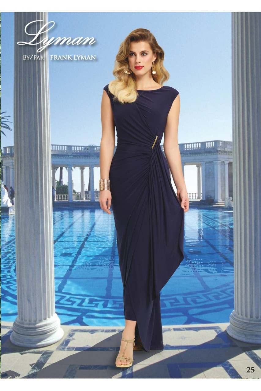 Frank Lyman Ruched Navy Gown 78161 | Nini K Boutique | Dresses ...