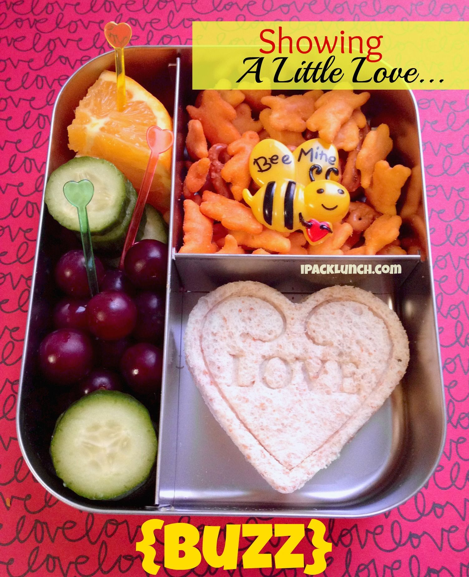 Valentine's bee mine bento lunch box