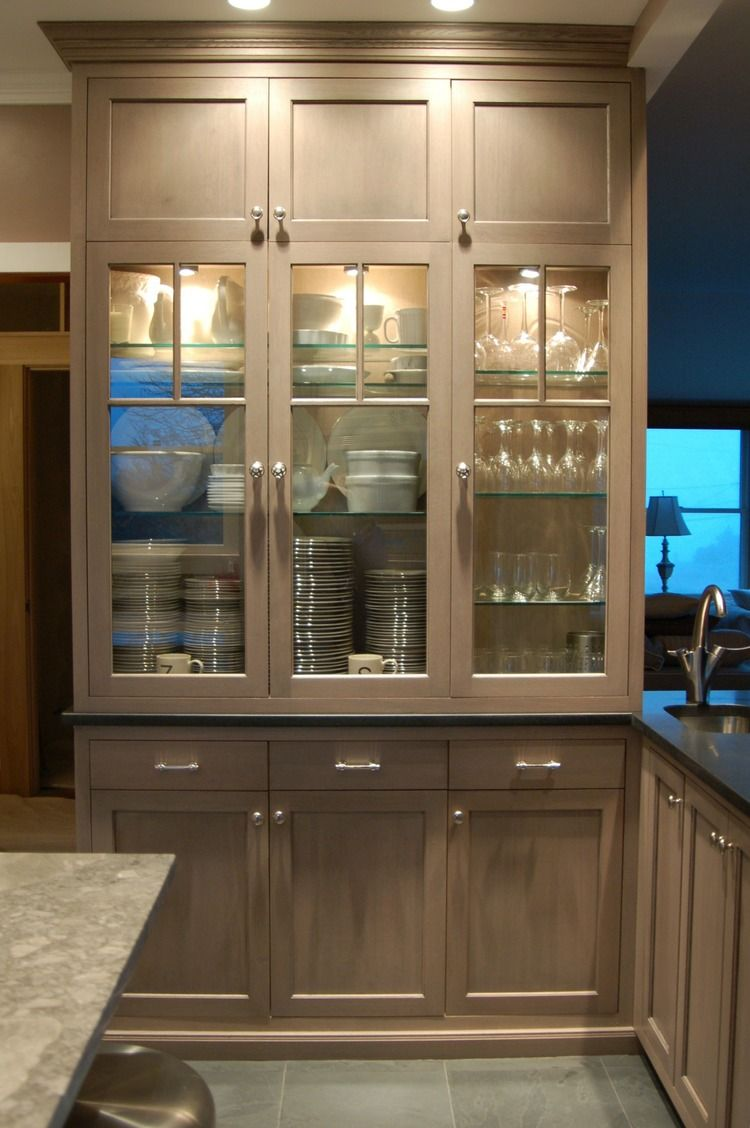 Glass fronted driftwood Kitchen & Bath Details