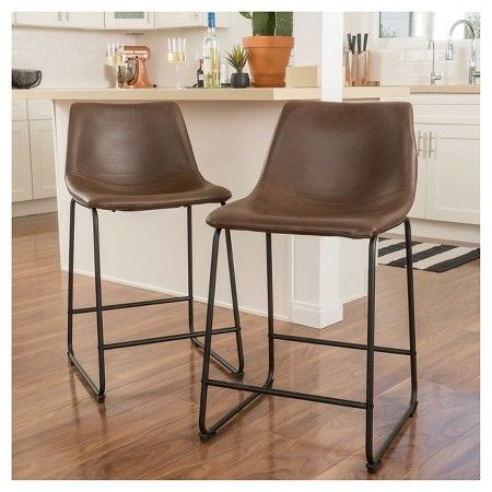 Terrific 30 Cedric Faux Leather Barstool Vintage Brown Set Of 2 Ibusinesslaw Wood Chair Design Ideas Ibusinesslaworg