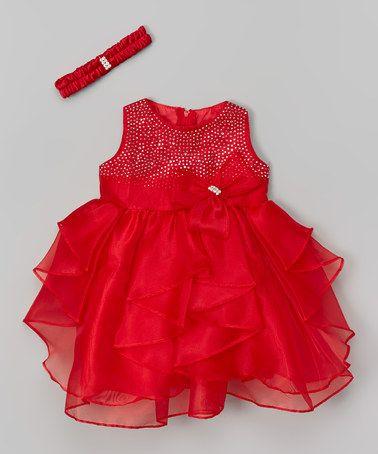 Look At This Zulilyfind Red Sequin Ruffle Dress