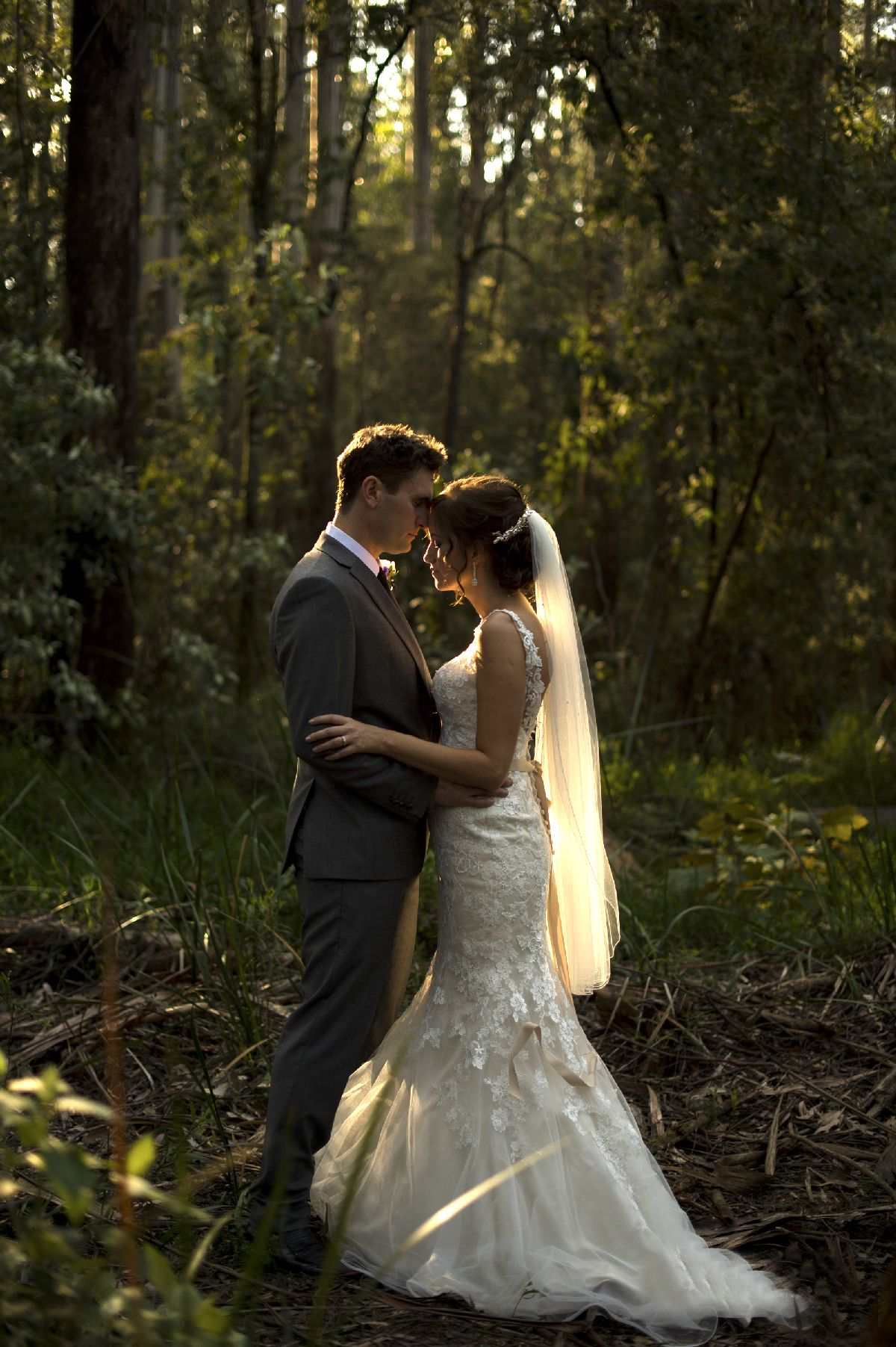 Bride and groom - A beautiful and whimsical forest wedding - itakeyou.co.uk