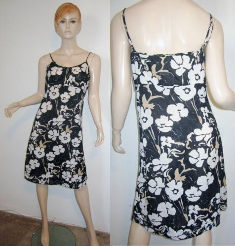 KERRY CASSILL 100% Cotton Sheer Voile Gauze Floral Embroidered Hem Shift Dress 3...http://stores.shop.ebay.com/vintagefluxed