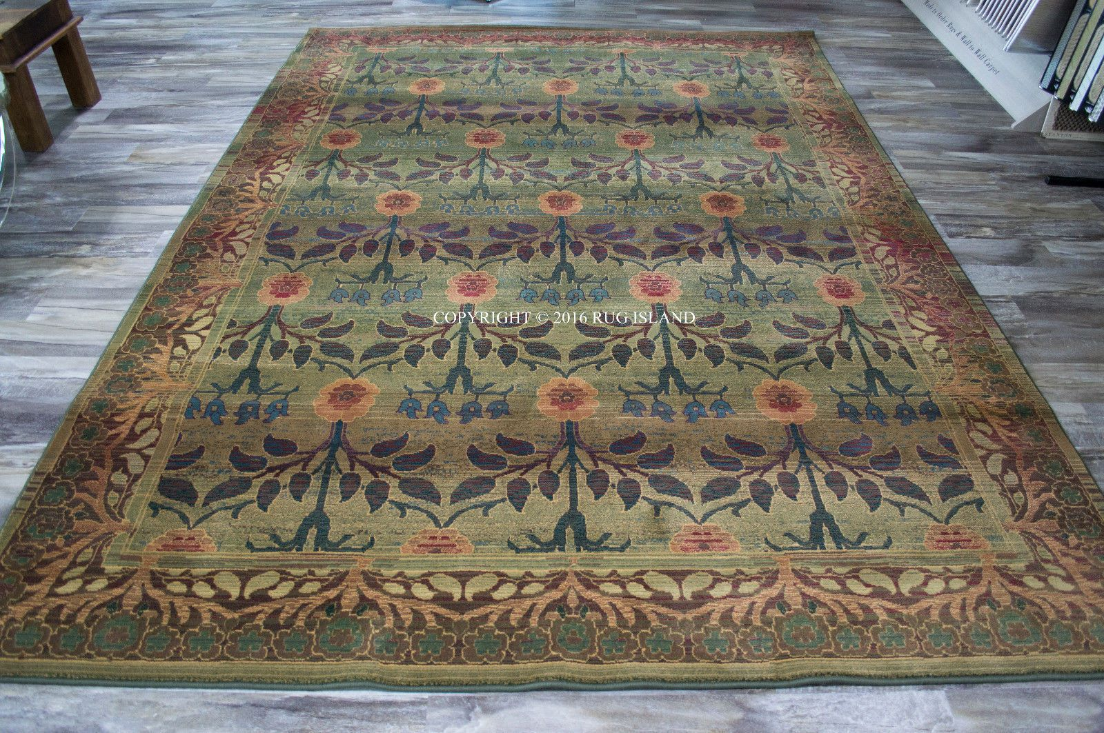 William Morris Style Arts Crafts Area Rug Free Shipping Ebay Arts And Crafts House William Morris Art And Craft Design