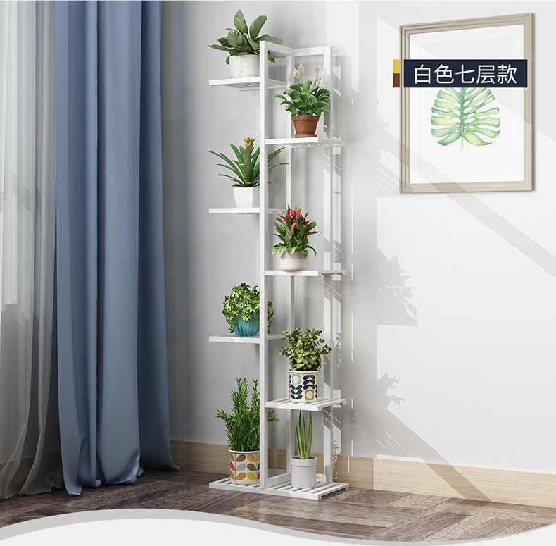 Wood material Standing flower shelf .Living room & balcony