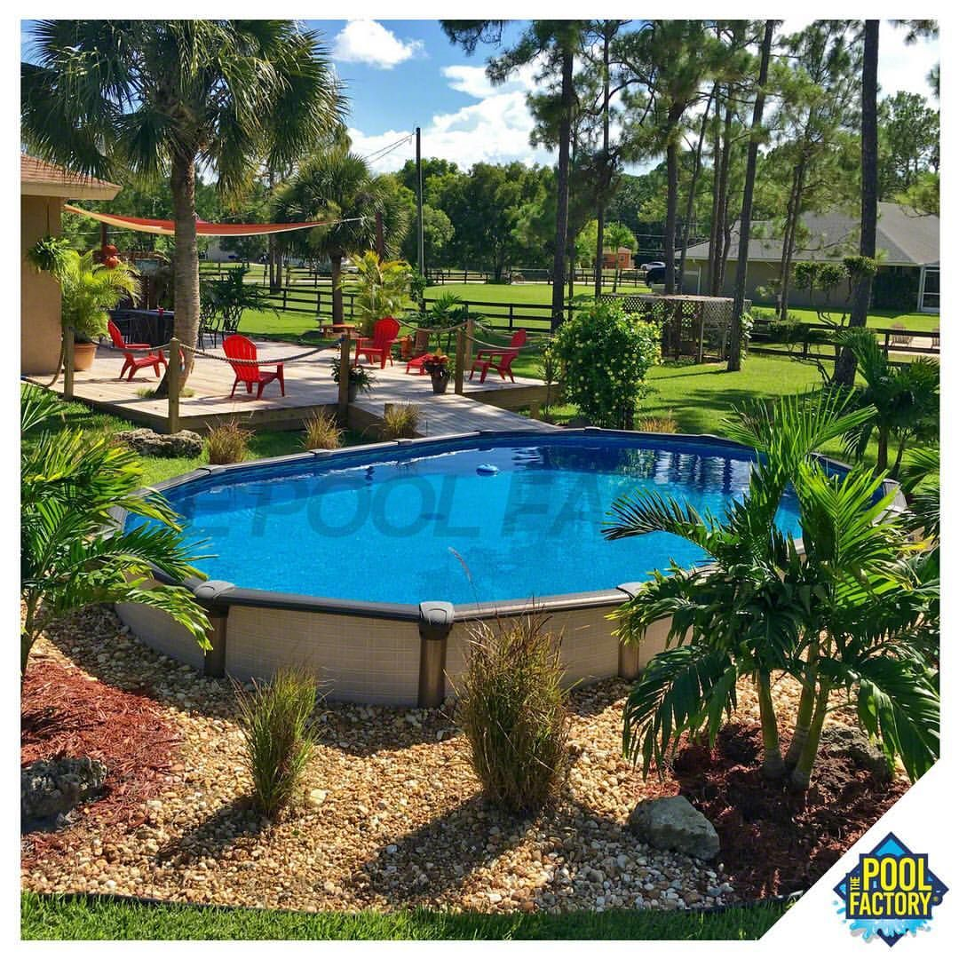 the semi inground pool model featured here is a 15 u0026 39  x 24 u0026 39  x 54 u0026quot  melenia oval pool