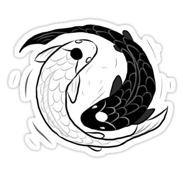 Avatar The Last Airbender Discover IPad Drawing of Koi Fish Ying Yang Sticker by CheekySherwin