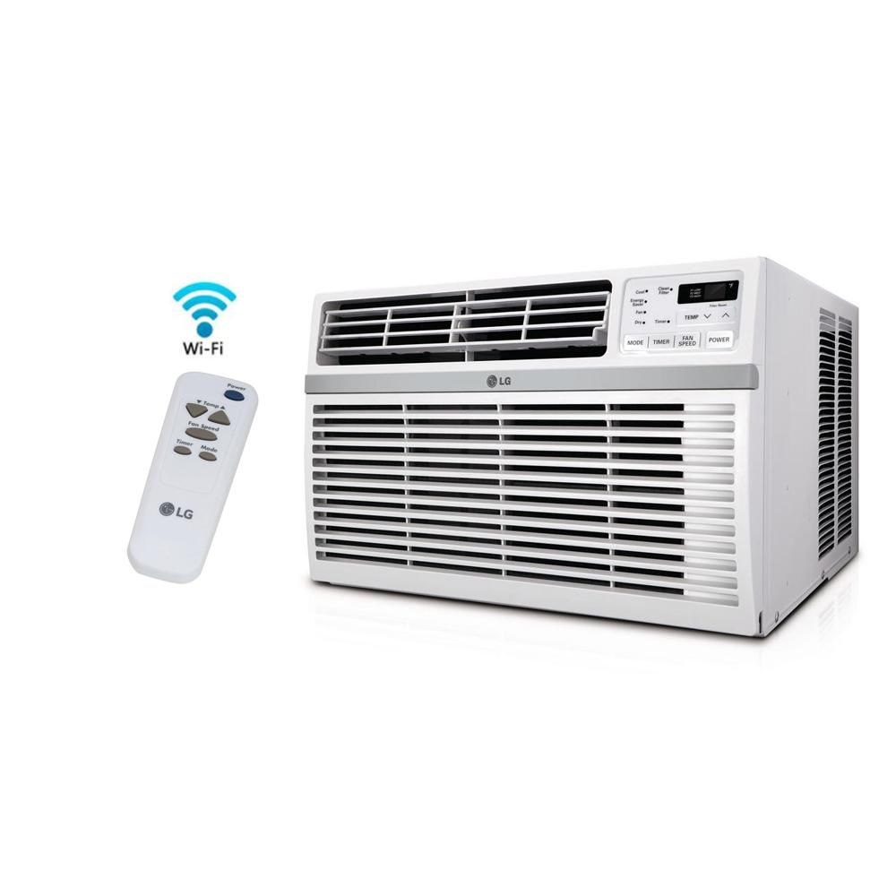 Lg Electronics 12 000 Btu Window Smart Wi Fi Air Conditioner With Remote Energy Star In White Lw Window Air Conditioner Room Air Conditioner Air Conditioner