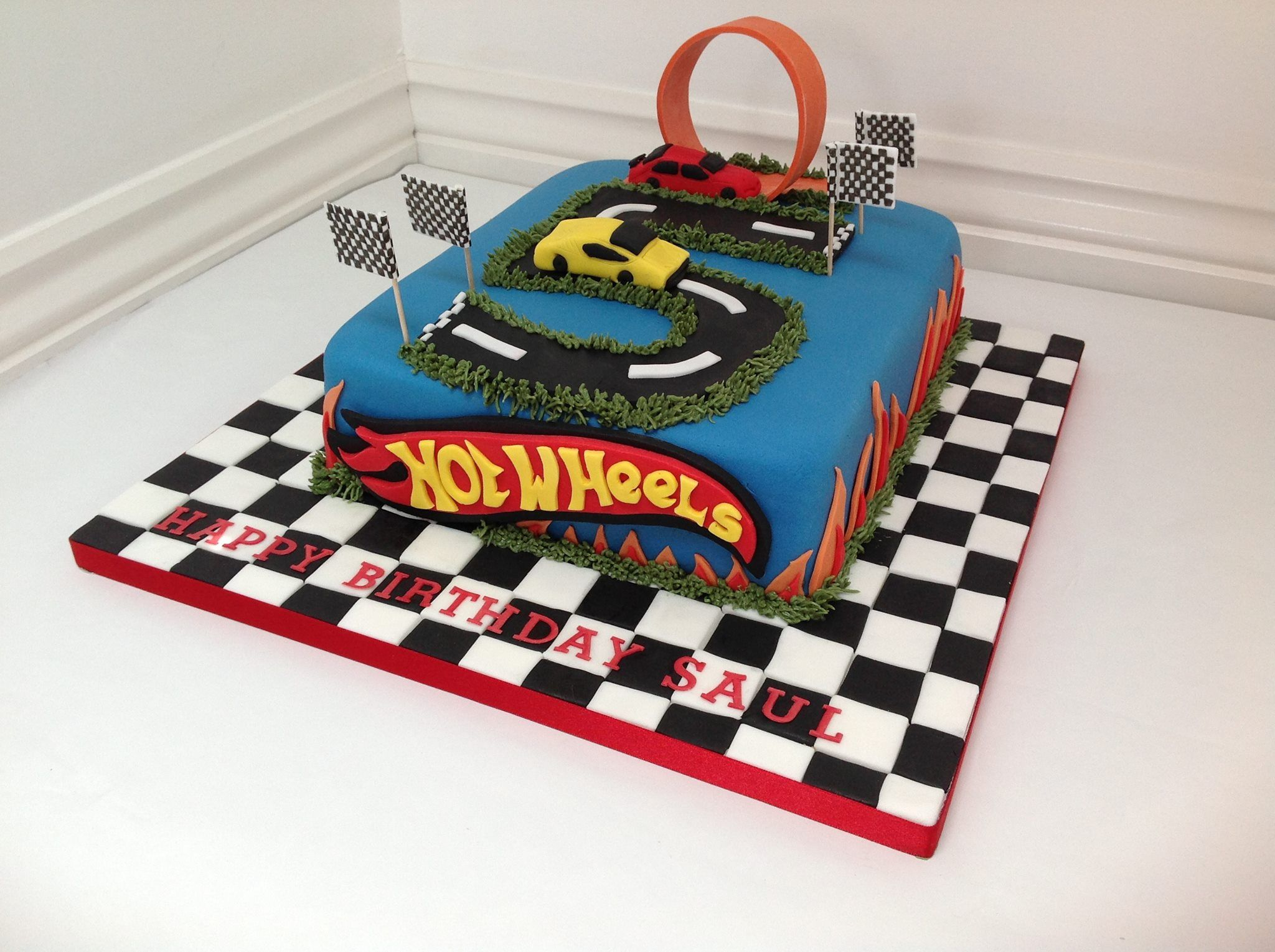 A Hotwheels Cars Birthday Cake By Fancy Fondant With Images