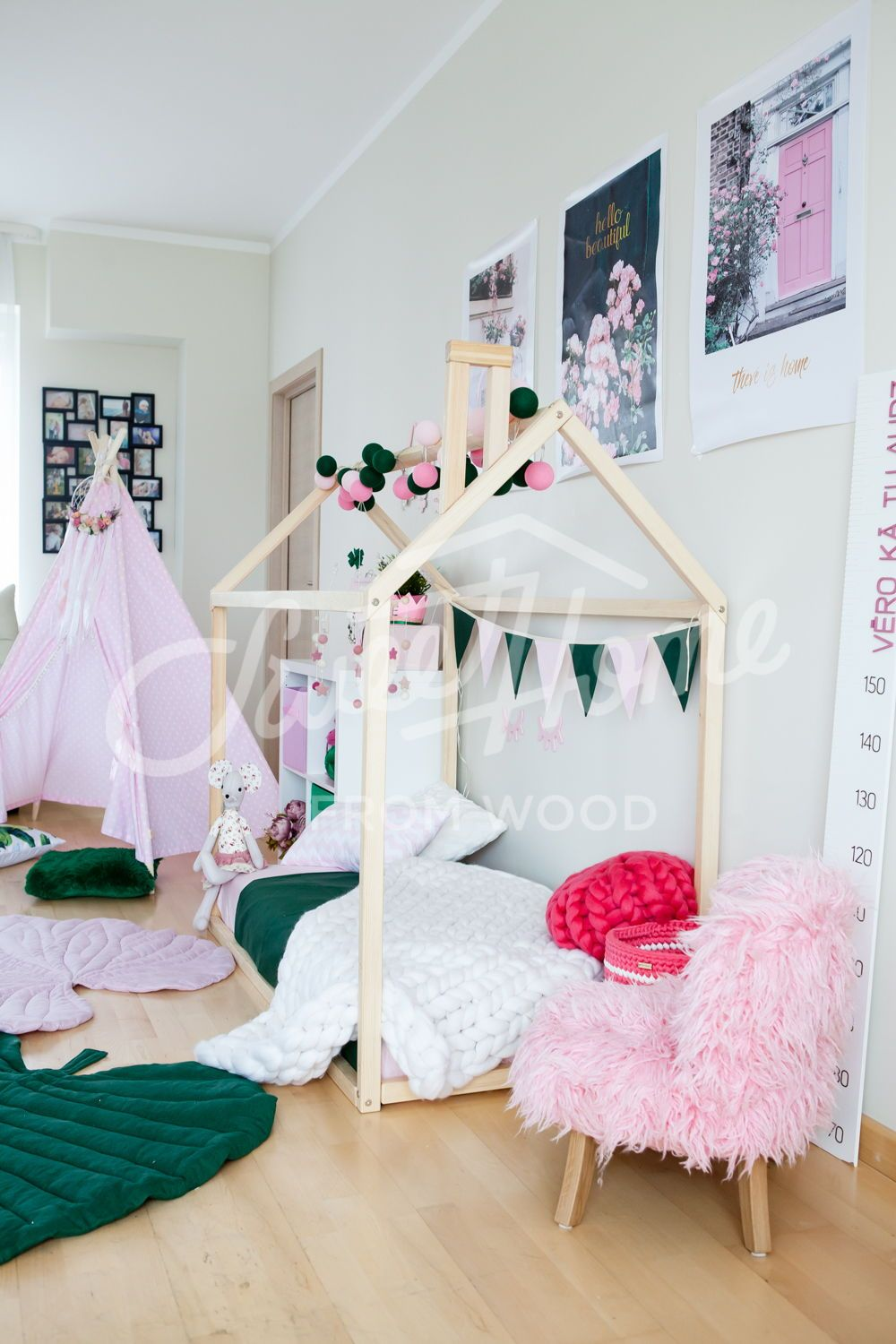 House bed, toddler bed house, Montessori toys, Montessori
