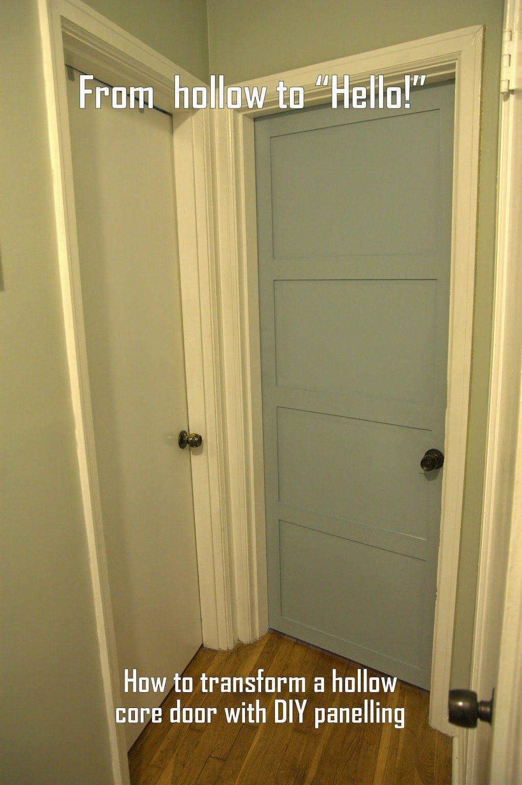 DIY hollow core doors to doors with trim: My Old Kentucky