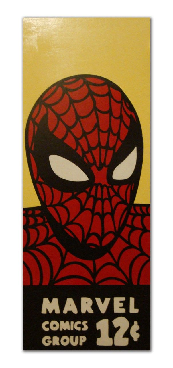 Vintage Spider-Man Corner Box Pop Art Comic Table Top. $500.00, via Etsy.