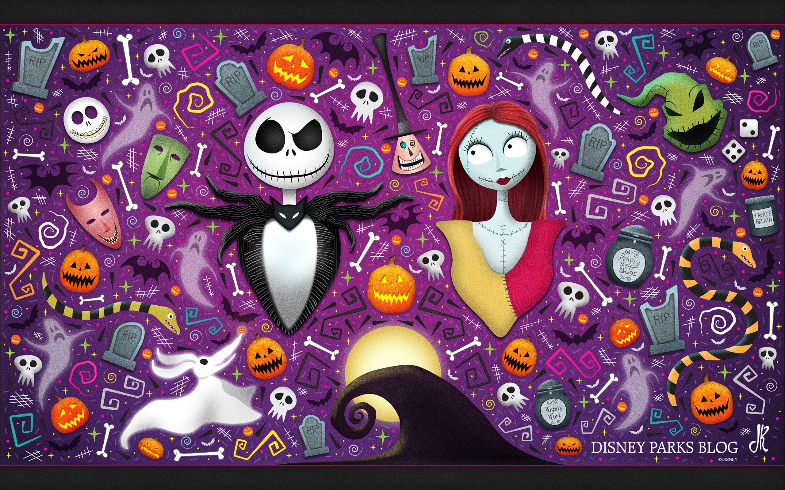 Jack And Sally Nightmare Before Christmas Wallpaper Halloween
