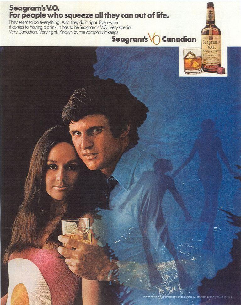 1971, Seagram's VO Canadian Whisky Vintage ads, Magazine