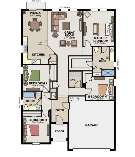ryland home - floor plan. #fallpoh2013 | 2013 fall parade of homes
