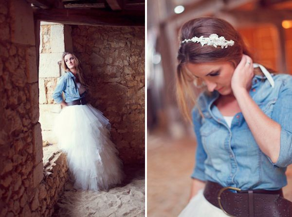 A Casual Spin On Your Special Day Love This Idea Really Nice Western Shirt Boots And Frilly Skirt