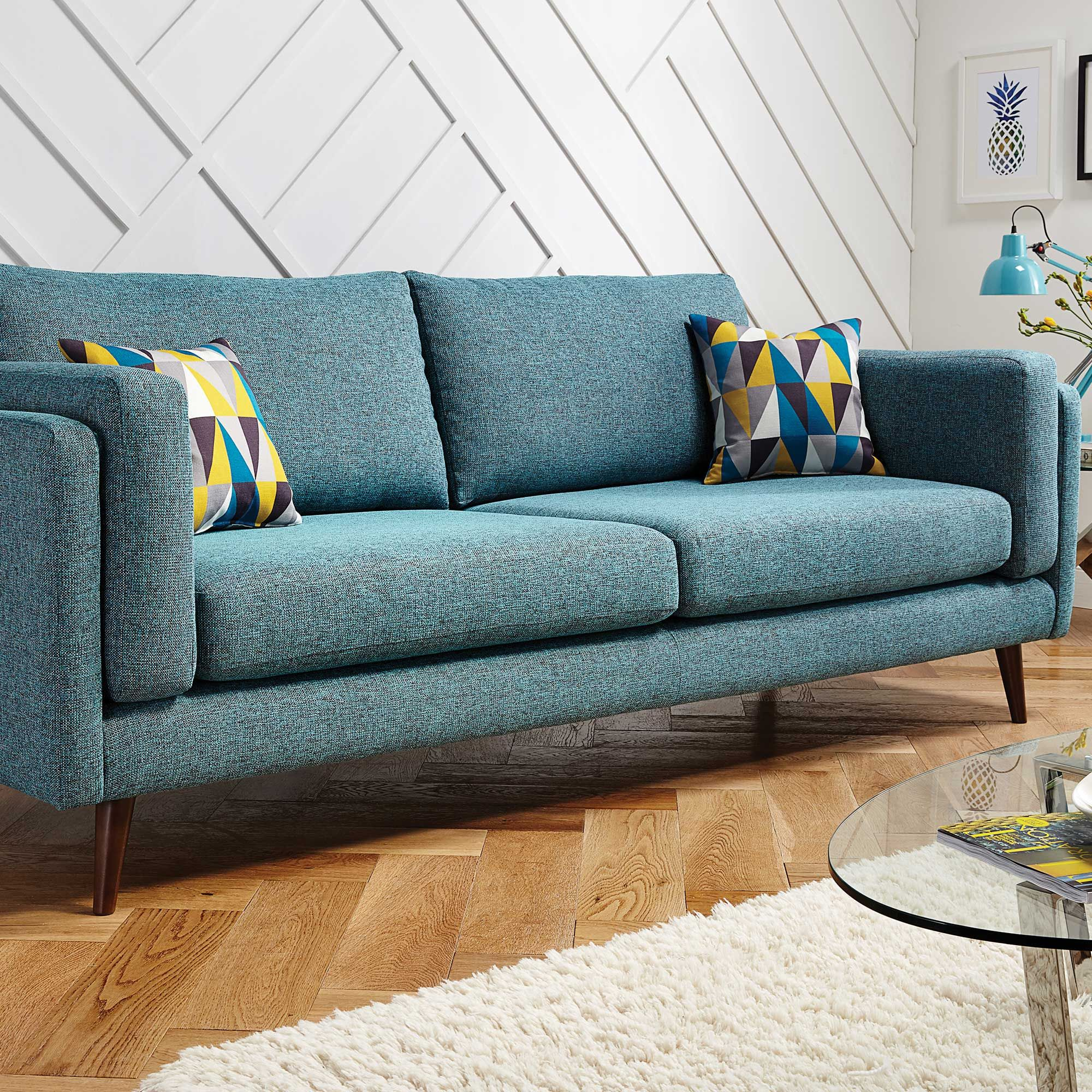 Add a pop of colour to your living room with the retro inspired Juni