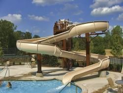 Cool Pools With Slides residential water slides - google search | pools & landscape