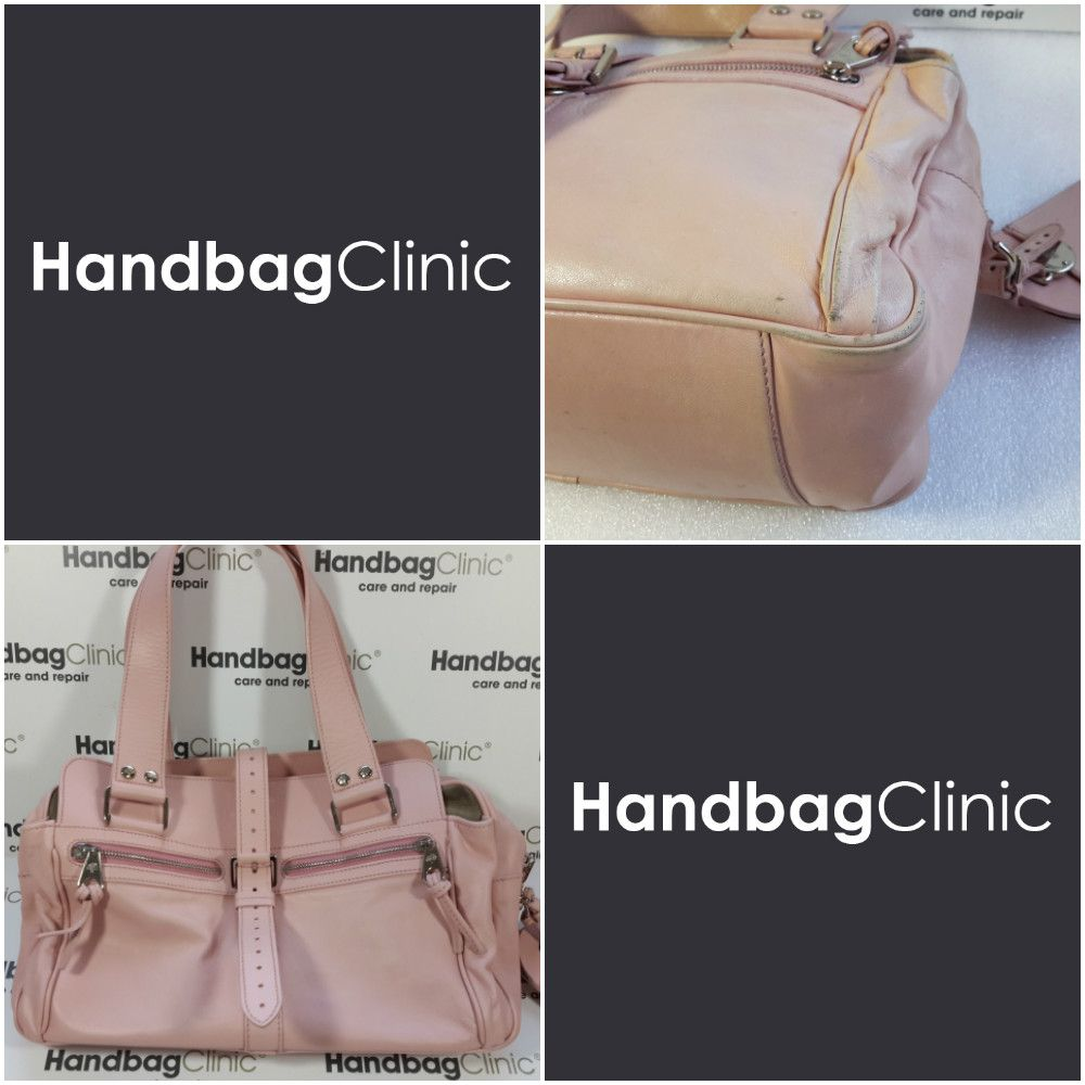 Send Her To Handbag Clinic Mulberry Bag Bayswater Daria Pink Fashion Leather Transformation Makeover Restoration